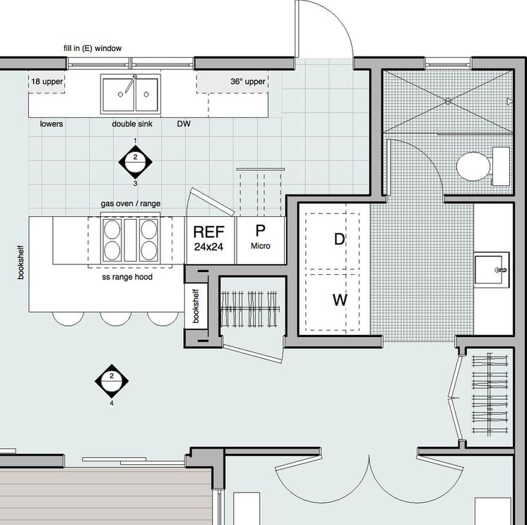 Sketches Modern Santa Barbara By Dylan Chappell Architects Room Layout Bathroom Floor Plans Laundry In Bathroom