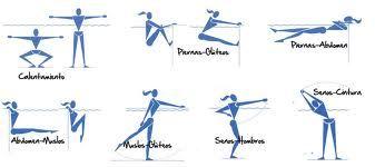 tabla de ejercicios para hacer en la piscina aer bic y