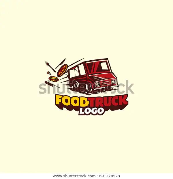 Food Truck Logo Vector Stock Vector Royalty Free 691278523 Vector Logo Food Truck Logos