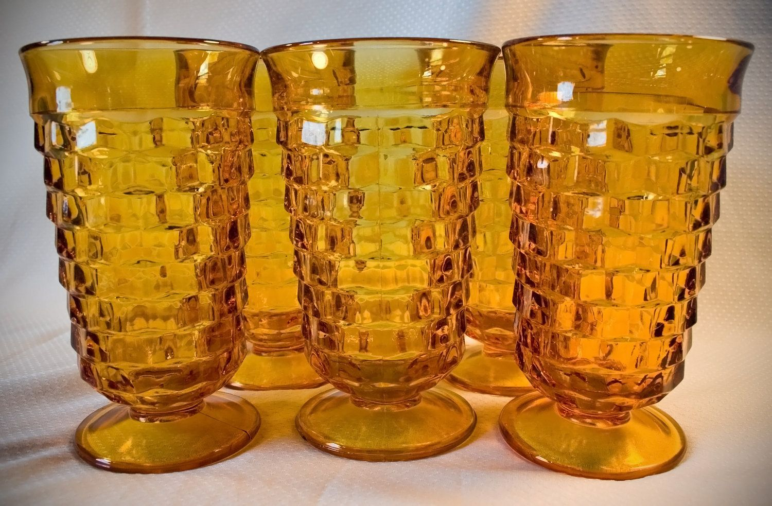amber glassware | Vintage Amber glass Drinking / Iced tea ...