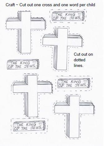 crucifixion craft, crucifixion of jesus craft, crucifixion sunday school craft