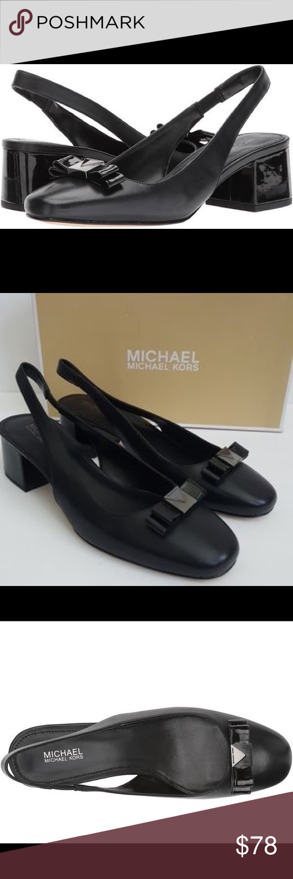 1c9f04753fb Michael Kors Caroline Leather Slingback Pumps 9.5 Go-to workweek style gets  a contemporary update