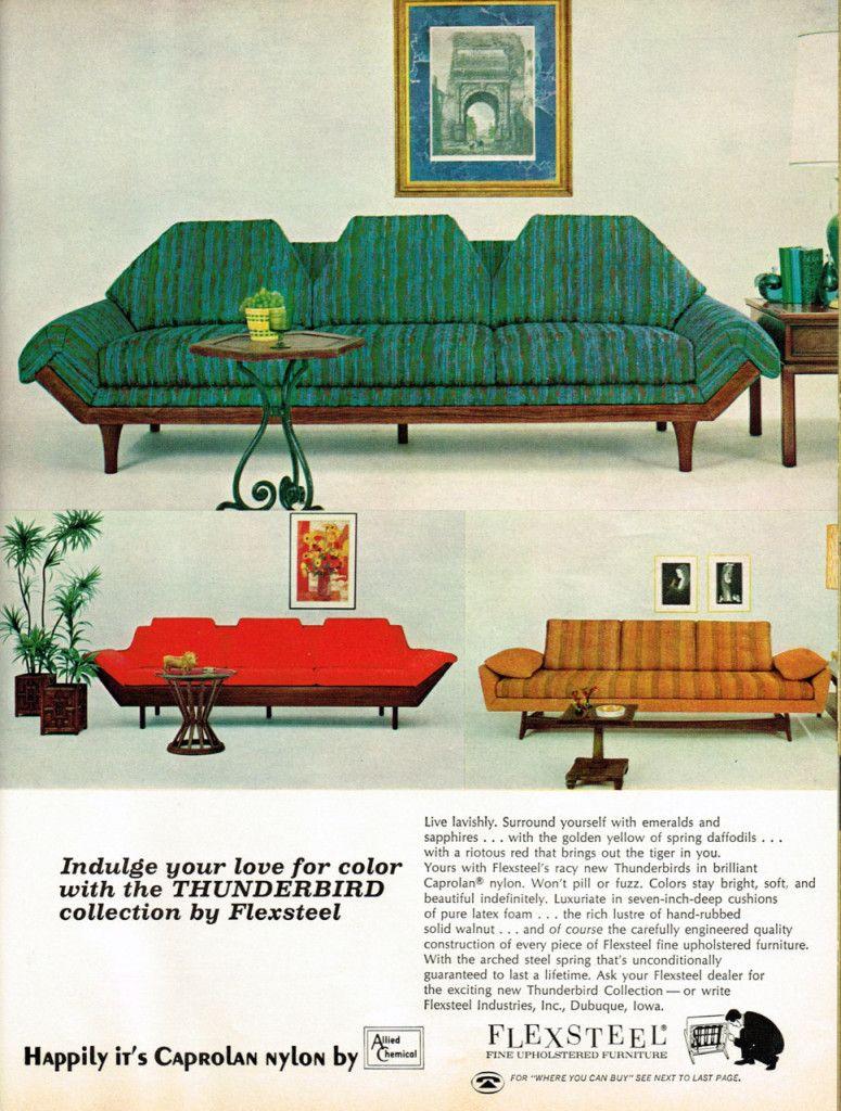 Pleasing Flexsteel Thunderbird Sofa In 2019 Mid Century Modern Theyellowbook Wood Chair Design Ideas Theyellowbookinfo