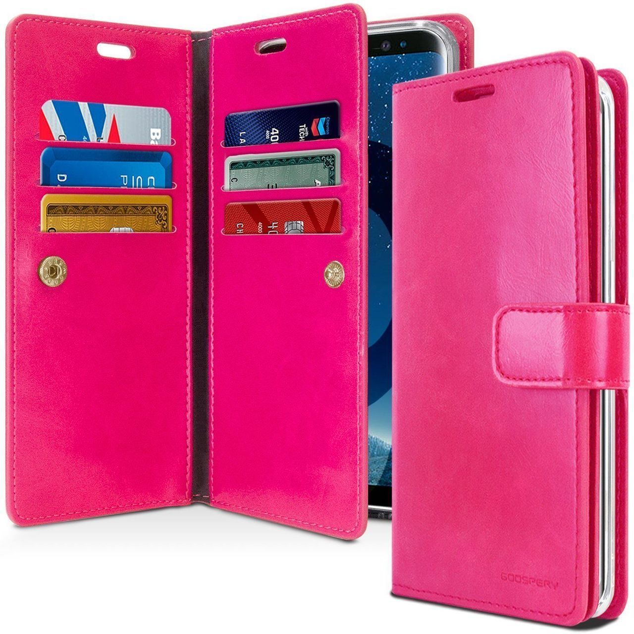 Hot Pink Galaxy S10 Genuine Mercury Mansoor Wallet Case