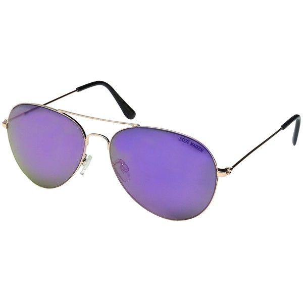 Steve Madden Rylie (Rose Gold) Fashion Sunglasses ($40) ❤ liked on ...