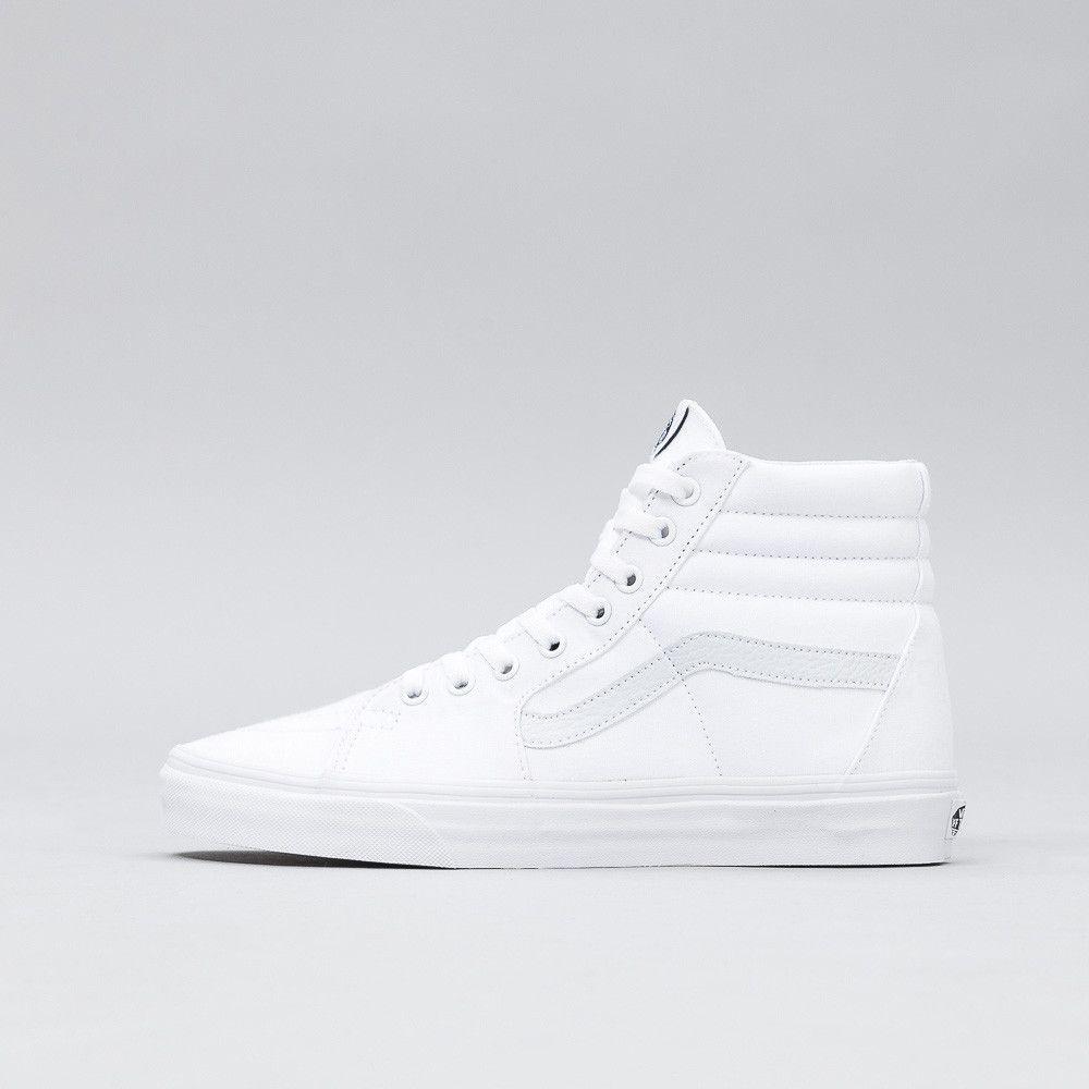 all white vans high tops