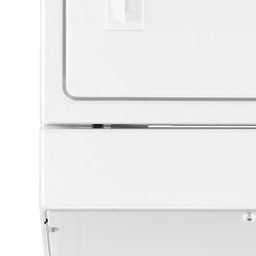 White 3 5 Cu Ft Electric Stacked Laundry Center 9 Wash Cycles And