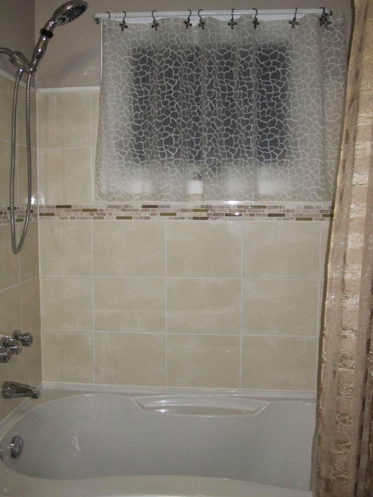 curtain for window inside shower