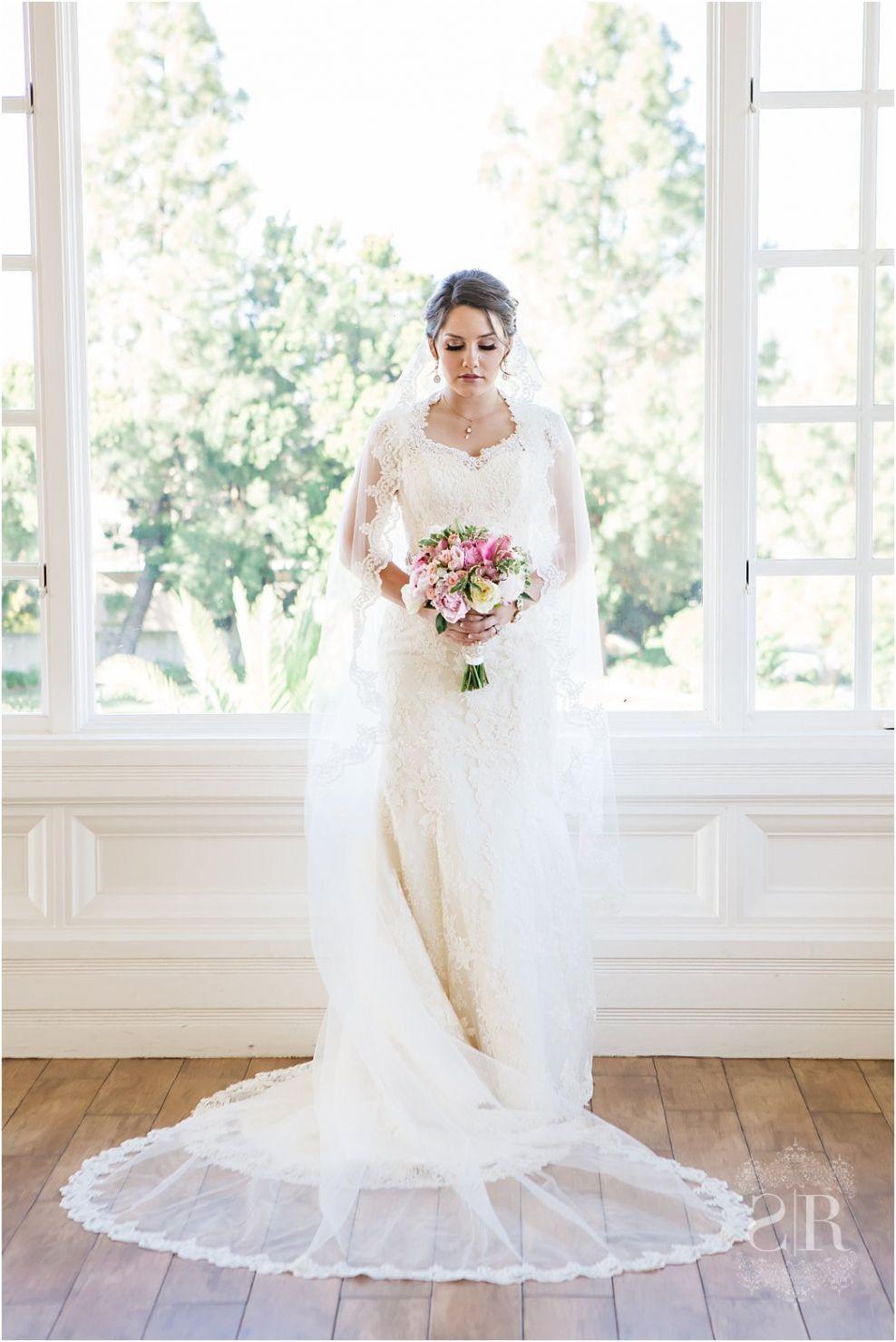 Beautiful lace wedding dress with sleeves vintage heirloom look long