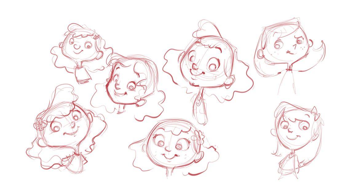 Little girls _ cartoon study