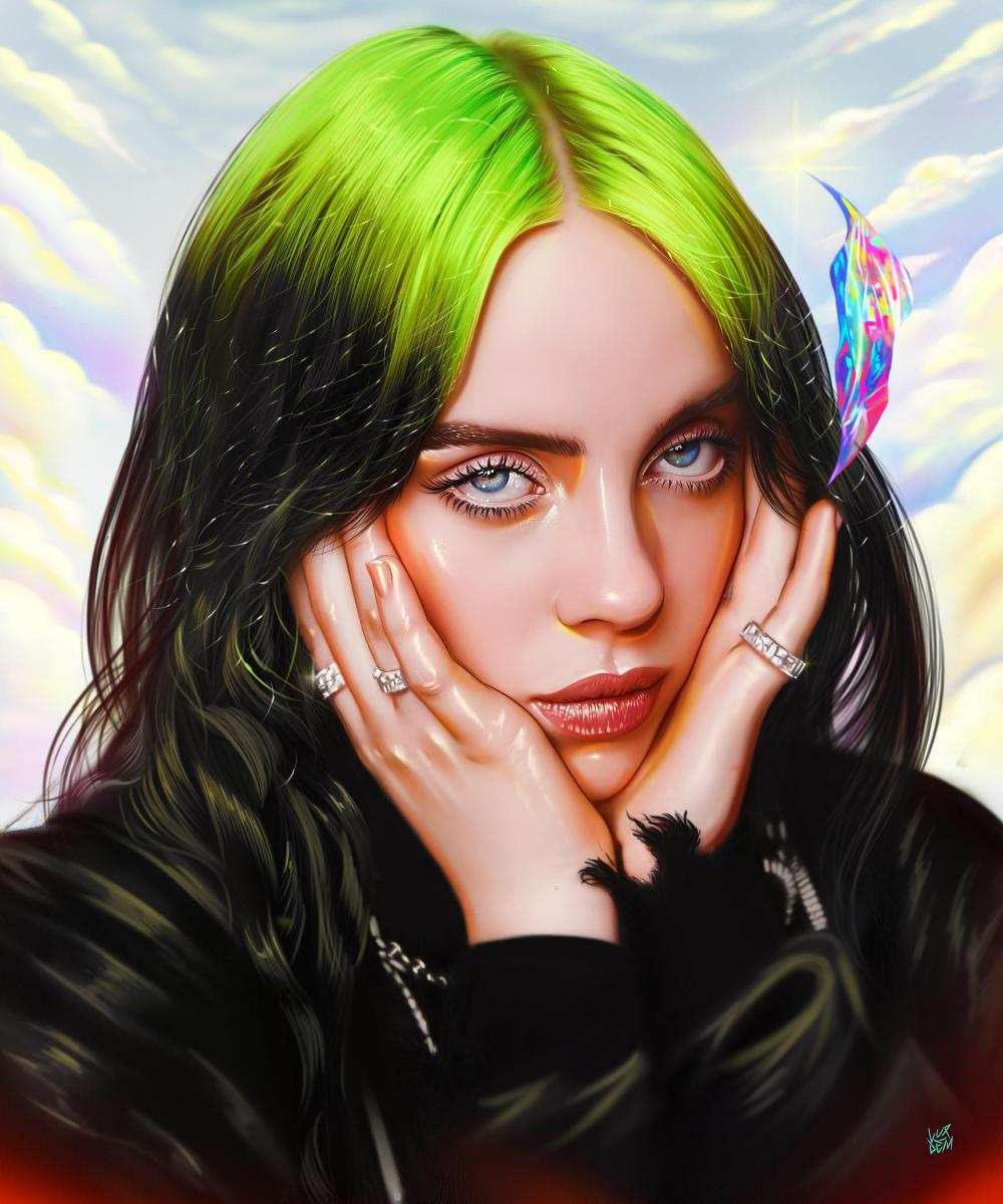 Billie Eilish By Vurdem On Deviantart Billie Portrait Billie Eilish
