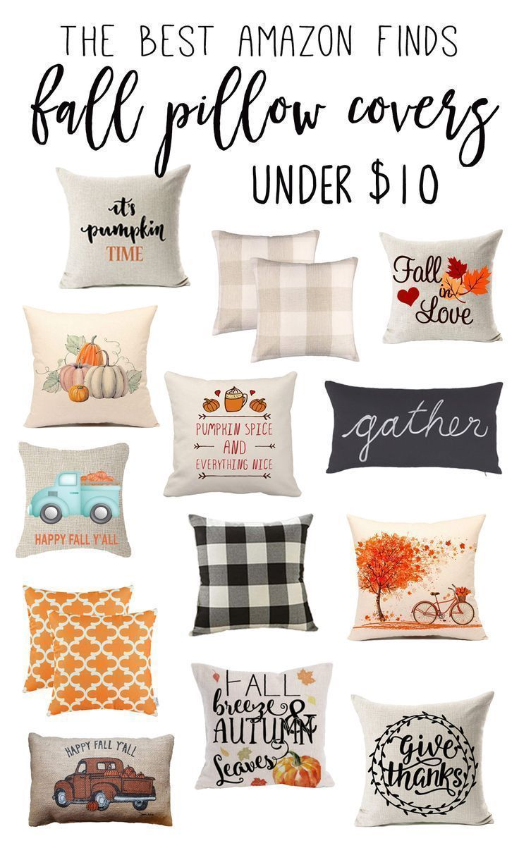 Amazon.com The Best Fall Pillow Covers on Amazon (Under $10!) - little blonde mom | Fall Pill...