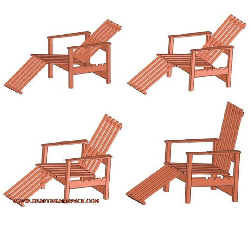 Garden Adjustable Wooden Chair Plan Wooden Chair Plans Diy Furniture Plans Woodworking Plans Diy