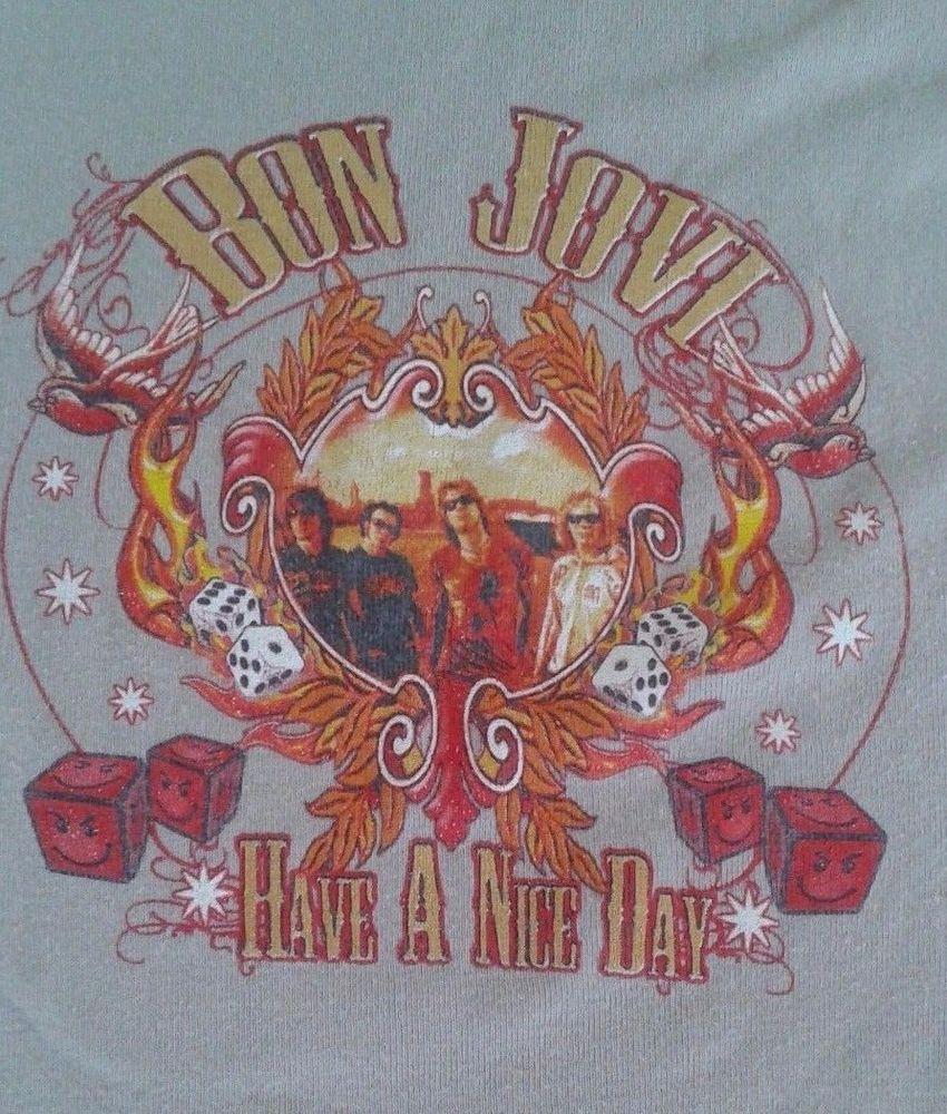 Women S 2005 2006 Bon Jovi Have A Nice Day Concert Tour M T