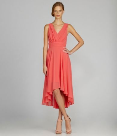 Suzi Chin Pleated Hi-Low Dress | Dillards.com | kari | Pinterest