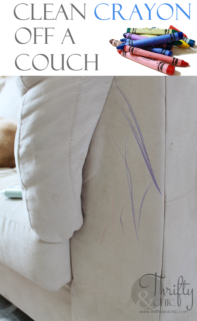 Easy Way To Clean Crayon Off A Couch With Images Couch Fabric Microfiber Couch Clean Couch