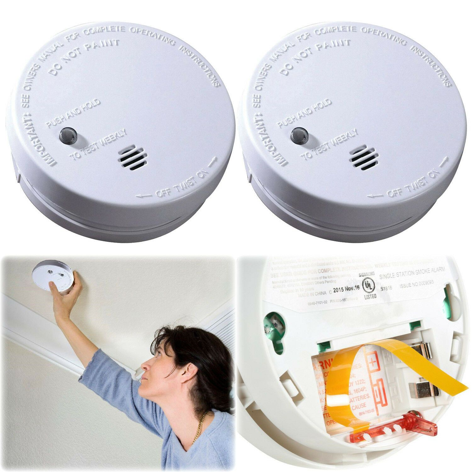 2 Pack Ionization Smoke Detector Battery Operated Home Fire Alarm Safety Sensor Smoke Alarm Smokealarm In 2020 Smoke Alarms Fire Alarm Smoke Detector