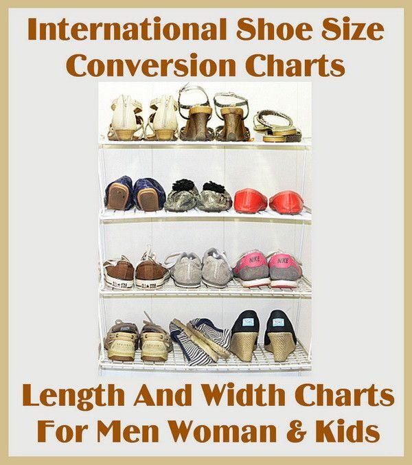 65c61ed7d23 Hvordan Og Skostørrelse International Diagrammer Bredde Længde Konvertering  qwH11AxZf