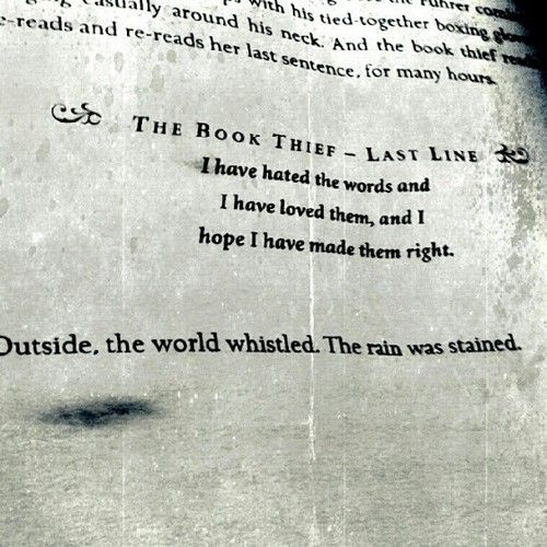 "The Book Thief Death Quotes About Humans: ""I Have Hated The Words And I Have Loved Them, And I Hope"