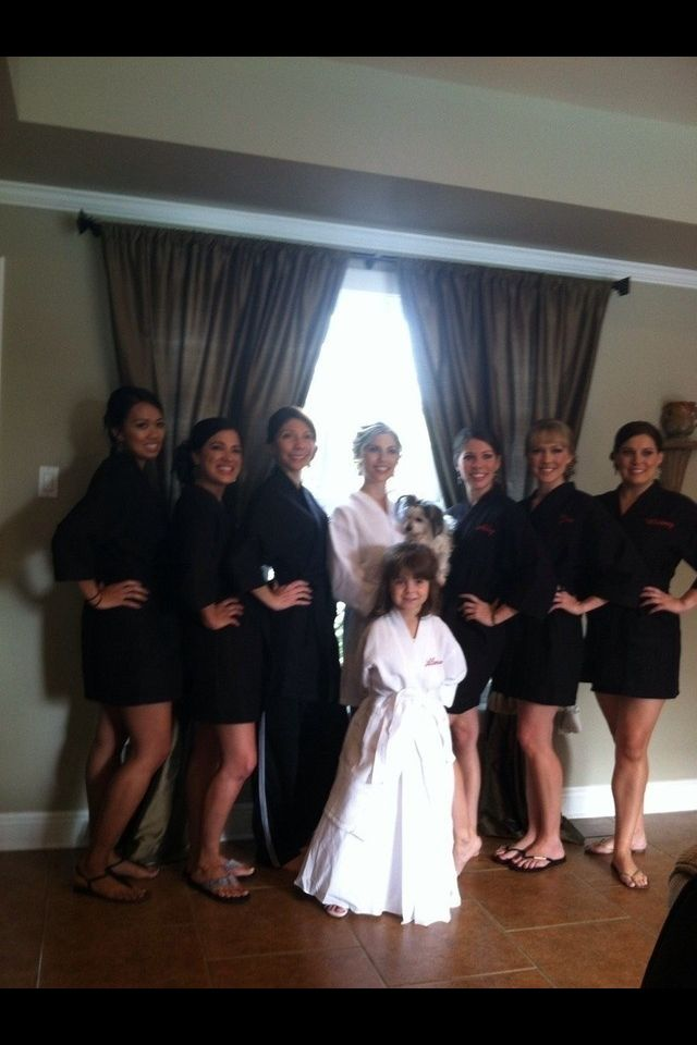 Black Bridesmaids Waffle Robes From The Knot Wedding Shop Bridesmaid Black Bridesmaids Bridesmaid Dresses