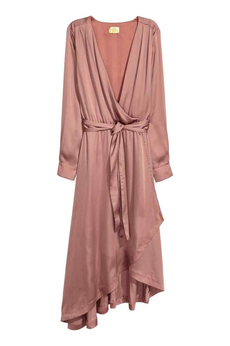 Robe croisée en satin | Pinterest | Satén rosado, Vestidos cruzados ...