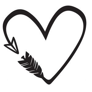 heart arrow silhouette design arrow and silhouette rh pinterest ie  heart with arrow clip art free