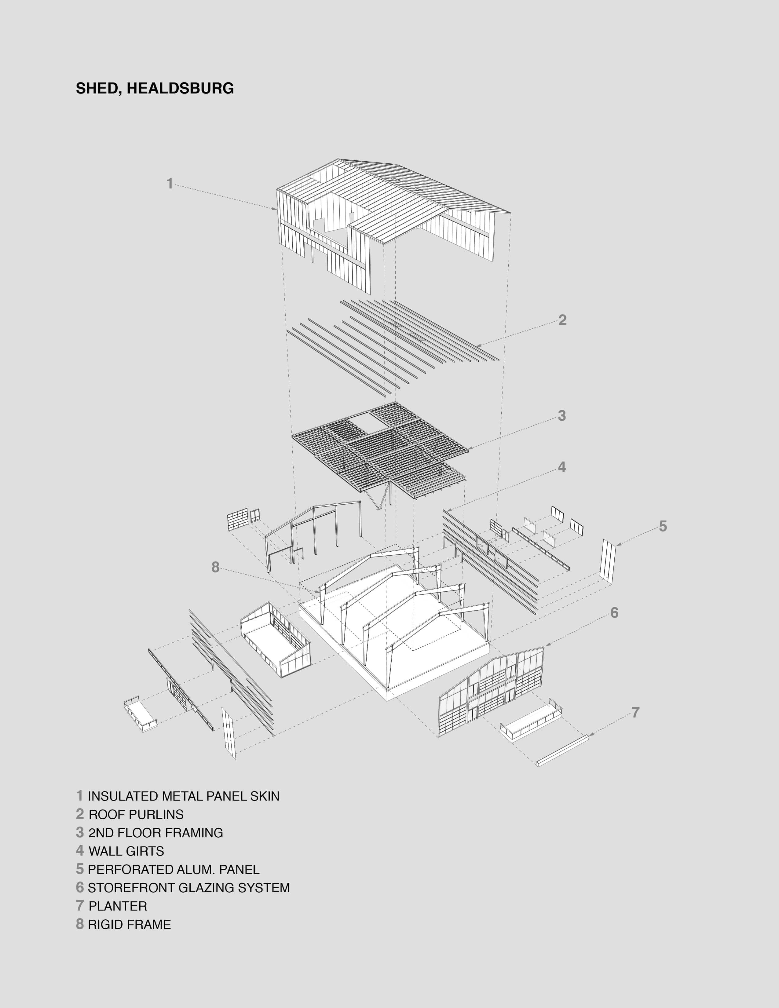 Healdsburg Shed Case Study Structure Preengineered Metal Building Diagram Systems System Architecture Diagram Diagram Architecture Healdsburg Shed