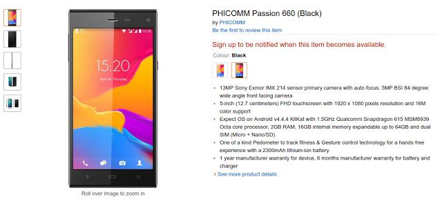 Buy Phicomm Passion 660 in India on Amazon.in | Ubuntuish
