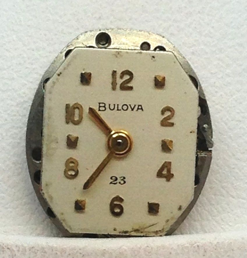 VINTAGE LADIES BULOVA WRISTWATCH MOVEMENT 23 JEWEL CALIBER 5AD