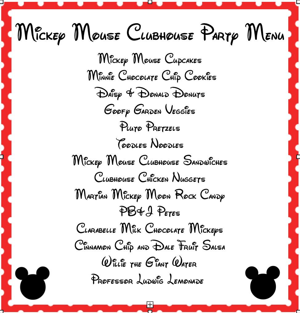 graphic regarding Free Printable Mickey Mouse Signs identified as mickey mouse clubhouse printable signs or symptoms Mickey Mouse Bash