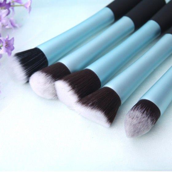 5PCS Makeup Kabuki Brush Set Cosmetic Brush Face Blusher Foundation Tool