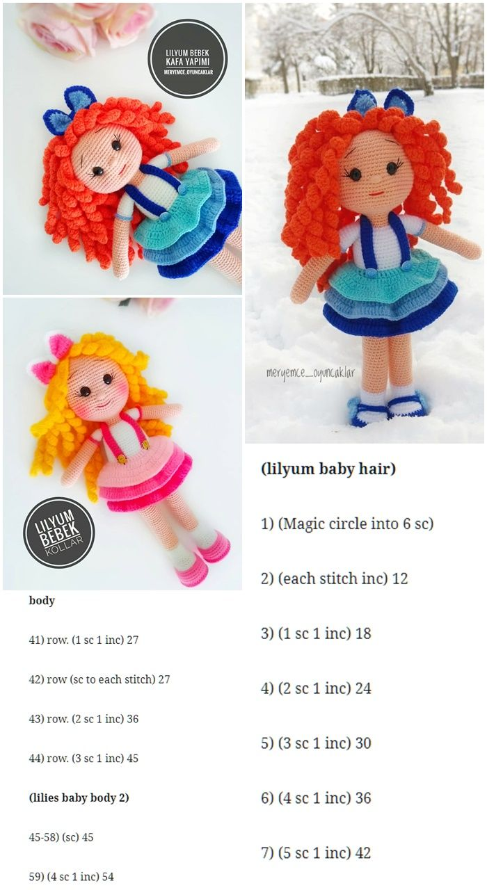 Amigurumi Doll Lilyum Baby Free Crochet Pattern - Crochet.msa.plus #crochetdoll
