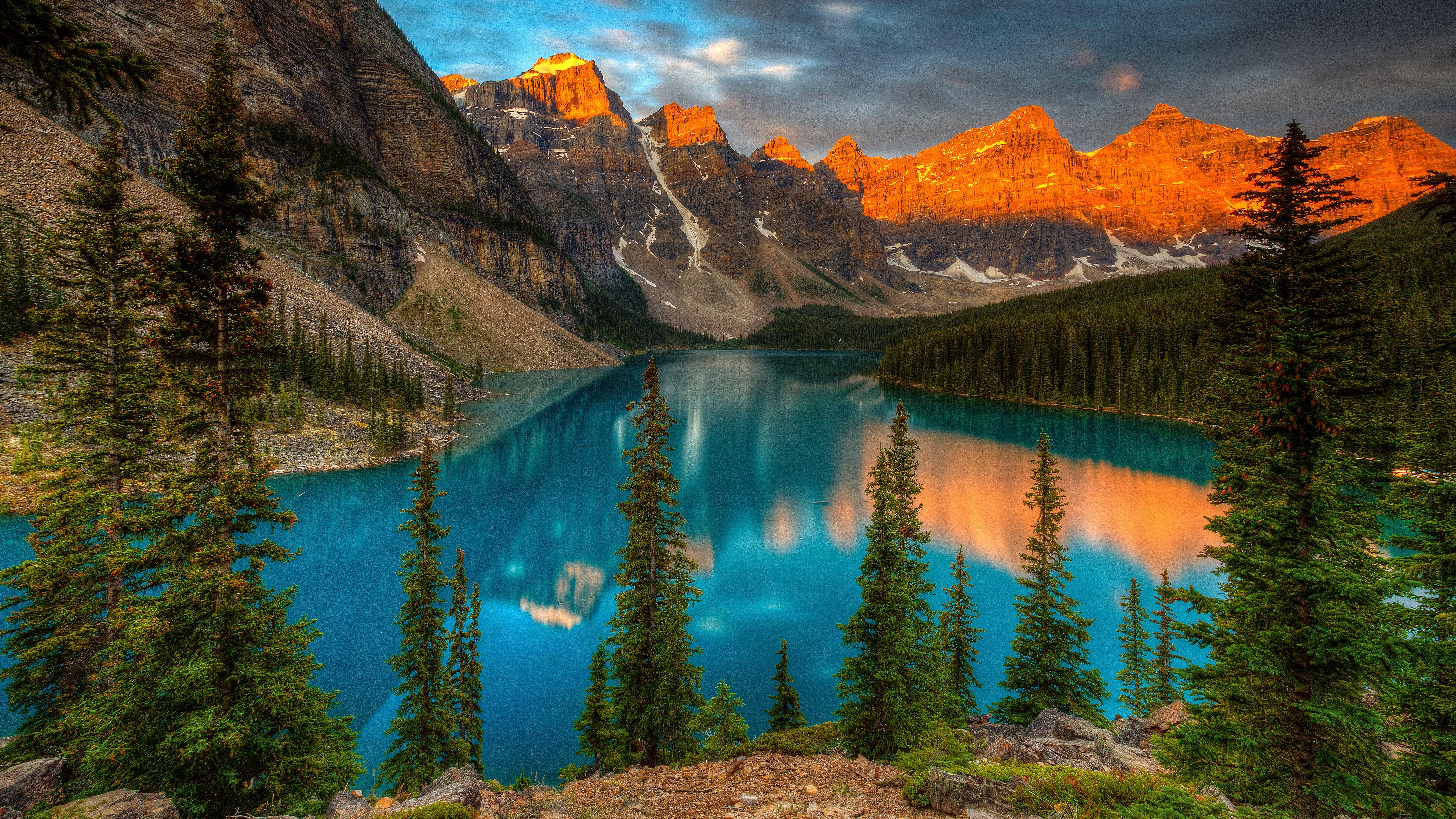 8k Ultra Hd Mountain Lake Nature 8k Wallpaper Hdwallpaper Desktop Moraine Lake Banff National Park Mountain Lake