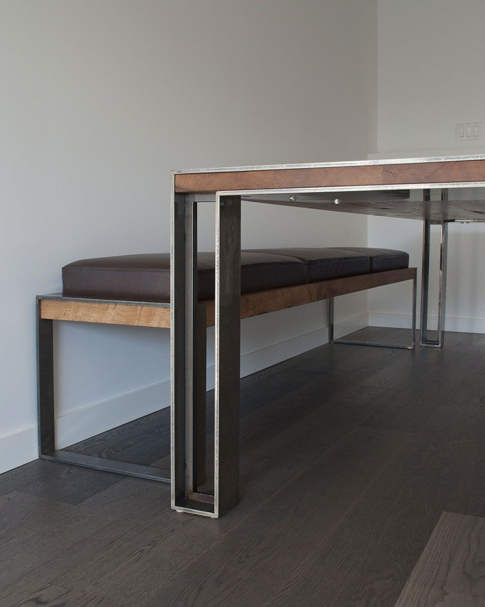 Custom Table And Bench In Situ
