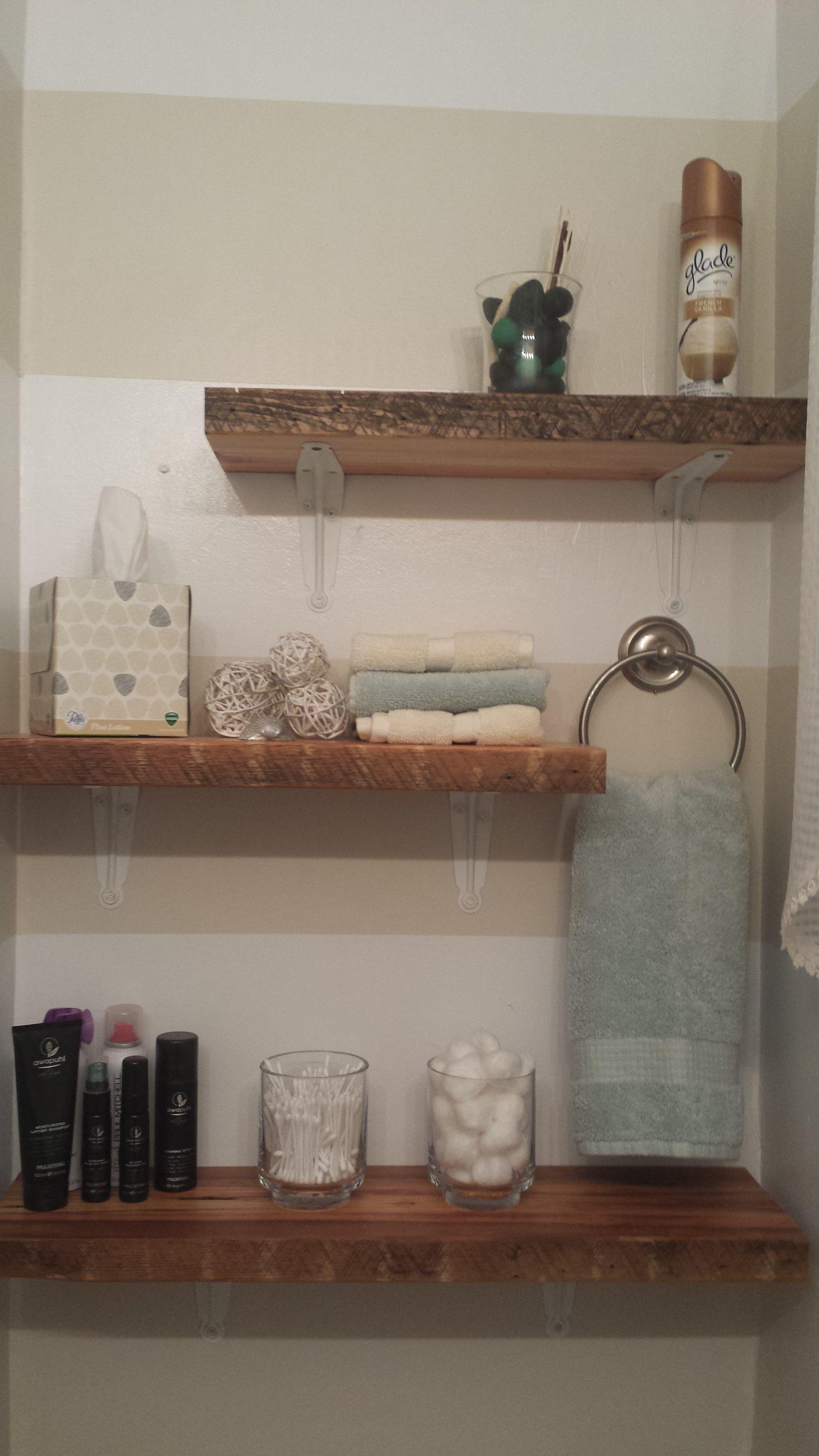 Bathroom Shelves Shelves: Etsy Towels, potpourri, wicker ...