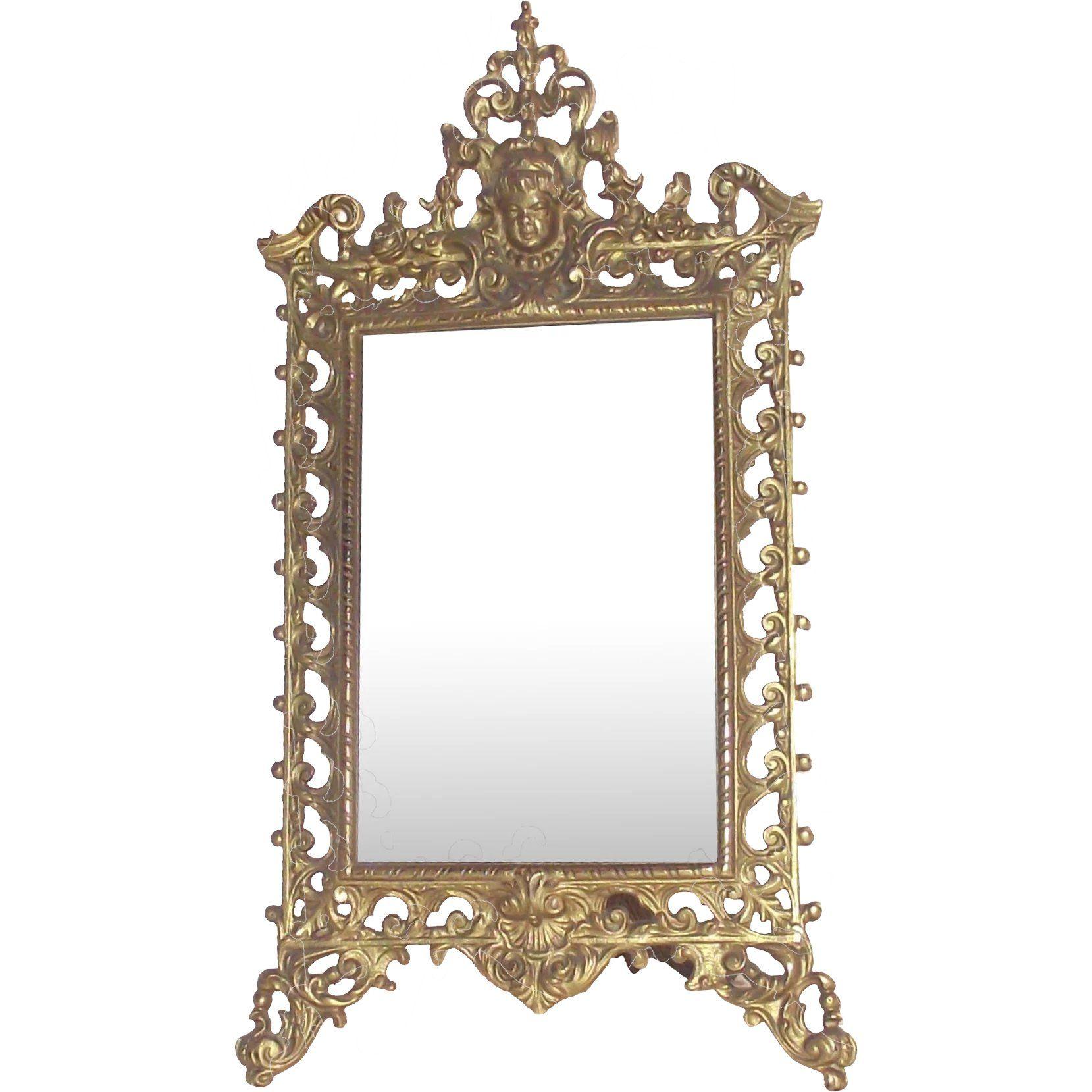 Summerhome Interior Design: Victorian Gilt Table Mirror With Puti Or Cherub A Perfect