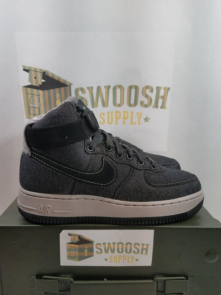finest selection 8e79d d8429 Nike Air Force 1 Hi SE BlackDark Grey Cobblestone Womens Size 5 860544  003 Nike BasketballShoes