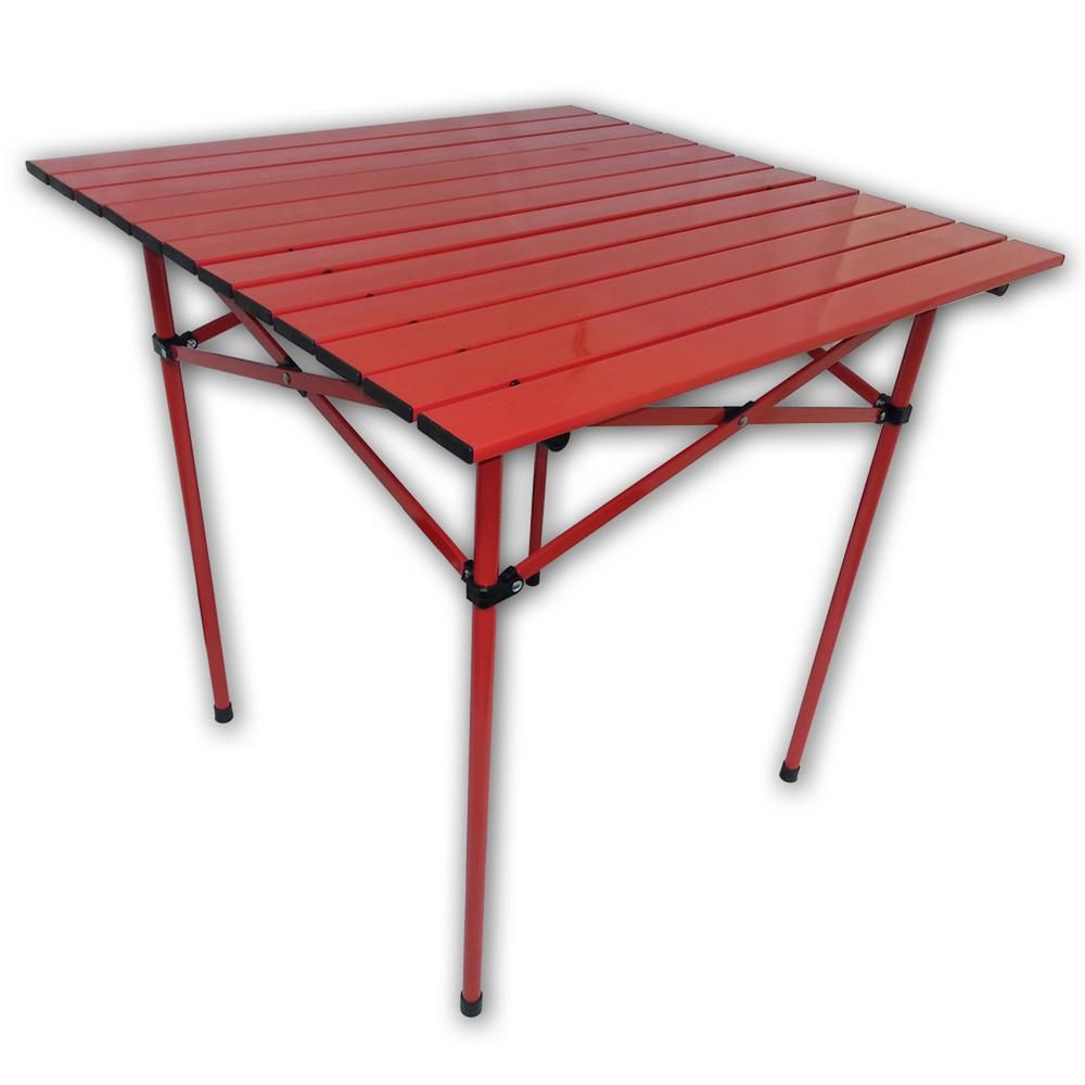 Marvelous Aspen Brands Red Aluminum Square Outdoor Picnic Table With Gmtry Best Dining Table And Chair Ideas Images Gmtryco