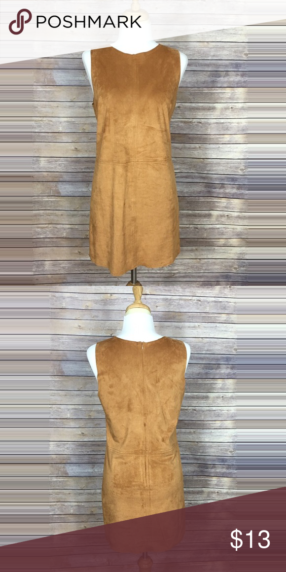 Tan suede sleeveless dress Like new suede dress. Worn only once. Fabric feels thick but still stretchy. Messurements are Bust: 18in  Length: 32in Dresses Mini