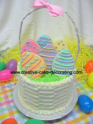 Cake Decoration Ideas On Easter Basket Cake Picture Easter