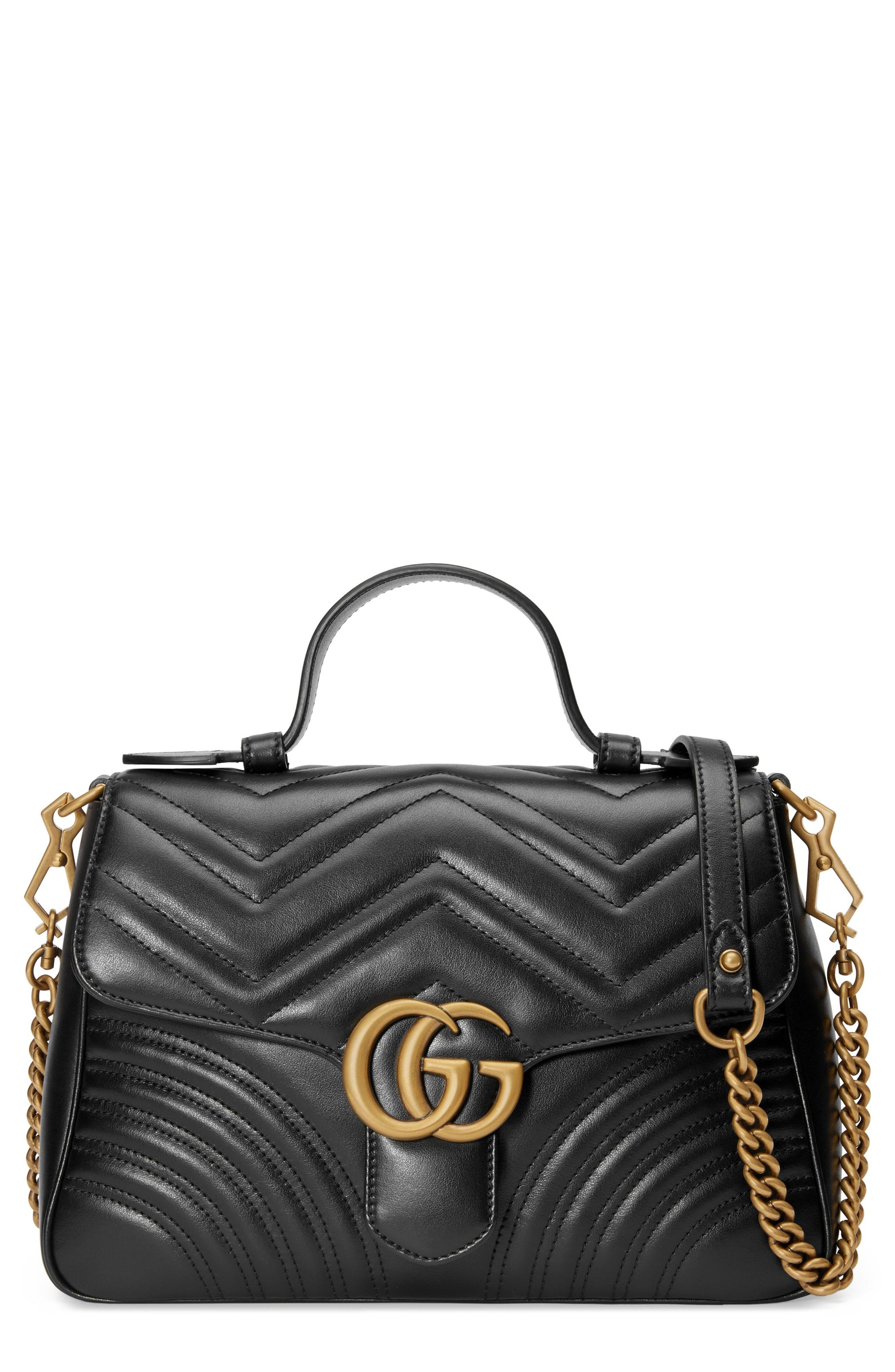 Gucci Small GG Marmont 2.0 Matelassé Leather Top Handle Bag available at   Nordstrom 86def2667e4
