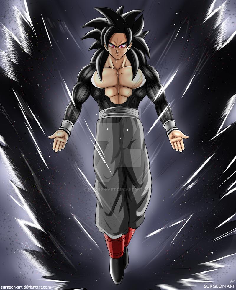 Goku Ssj4 With Black Aura Vid By Surgeon Art Goku Goku Black