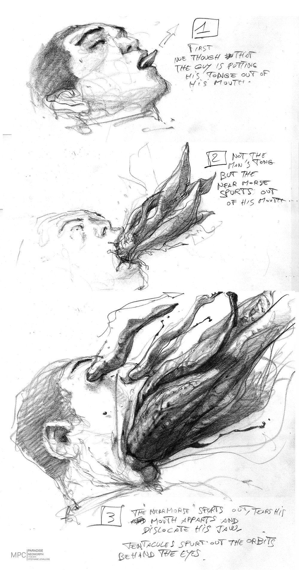 Tentacle Alien In 2020 Scary Art Alien Concept Art Monster Concept Art