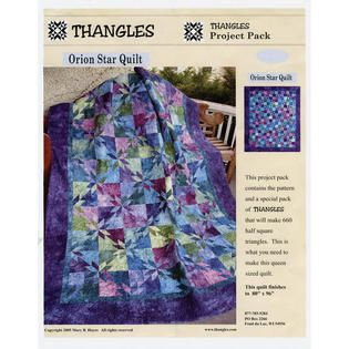Orion Star Quilt Pattern and Thangles | Quilts | Pinterest | Star ... : orion star quilt - Adamdwight.com