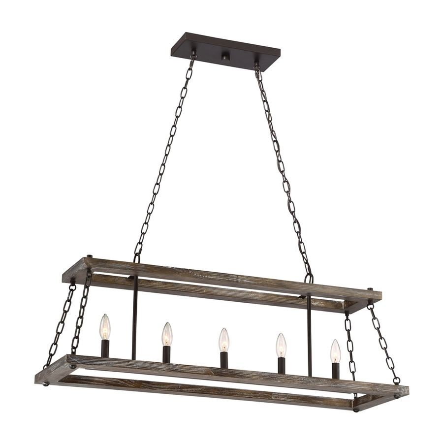 Quoizel Dwelling In W Light Western Bronze Kitchen Island Light - Western kitchen light fixtures