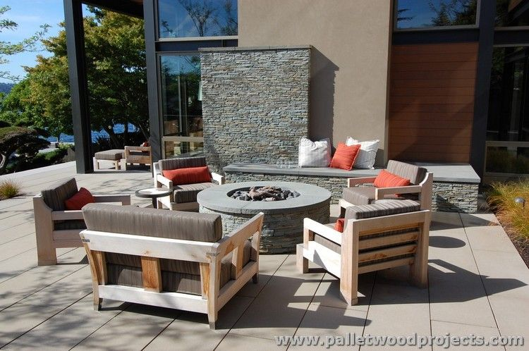 patio furniture made from wooden pallets | mobili, pallet di legno ... - Mobili Pallet Interior Design