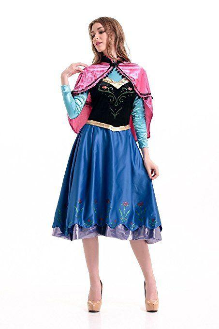 Disney Frozen Inspired Anna Winter Dress Adult Costume Halloween Cosplay S-XL (S)  sc 1 st  Pinterest & Disney Frozen Inspired Anna Winter Dress Adult Costume Halloween ...