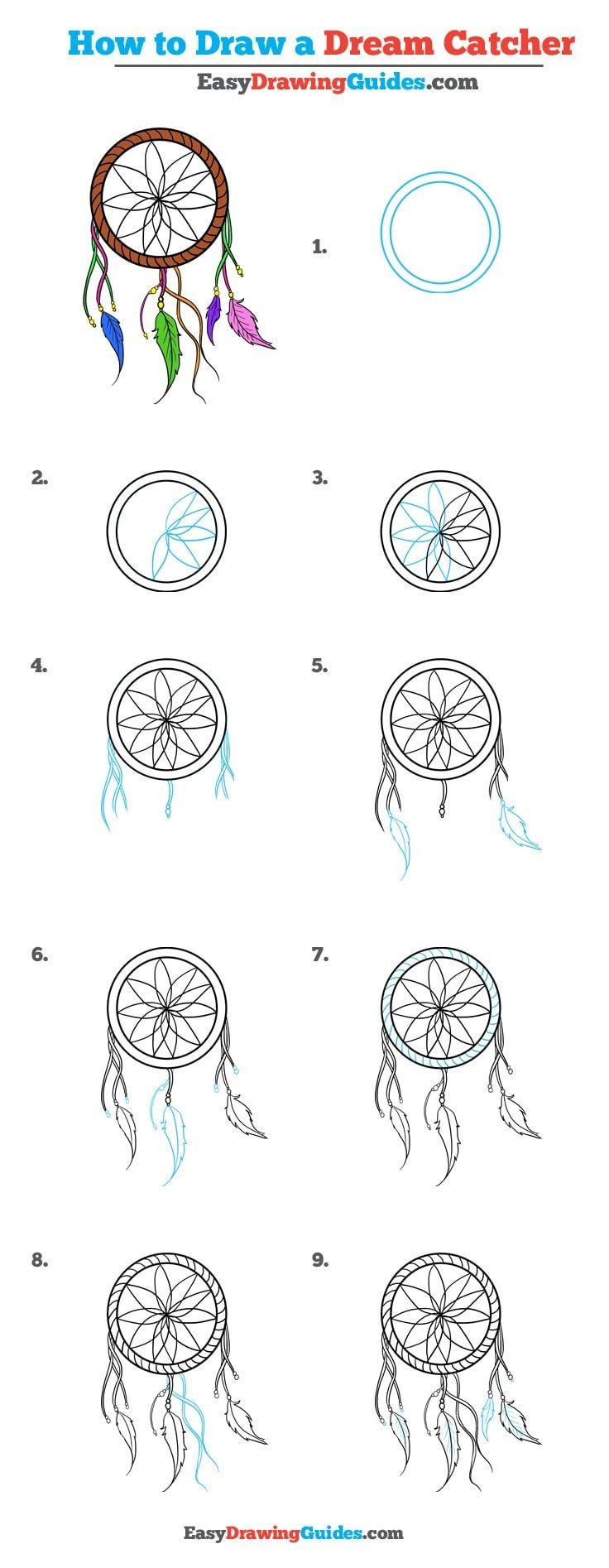 How To Draw A Dream Catcher Really Easy Drawing Tutorial Chairs