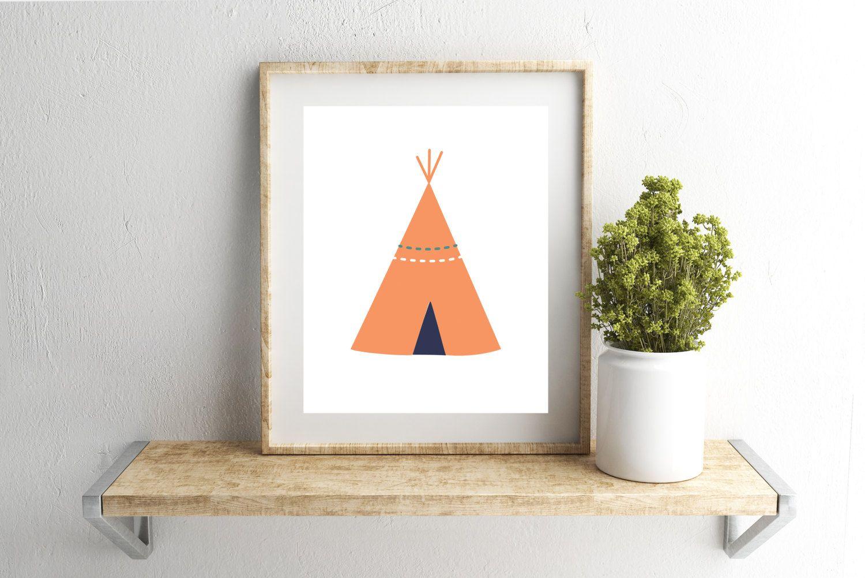 Time Custom color option Tee Pee Birth Stats Printable Arrows Height,Nursery Print Teal /& Orange Date of Birth Weight Name Navy