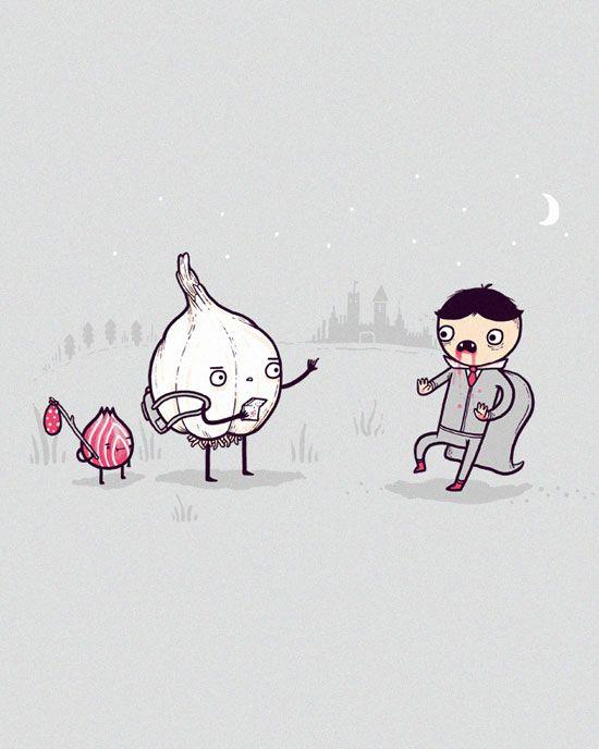Garlic Traveller Funny Vector T-Shirt illustration